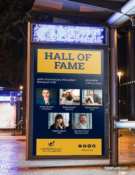 hall of fame digital signage template psd