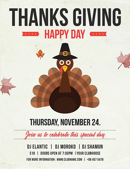 happy thanksgiving flyer template1