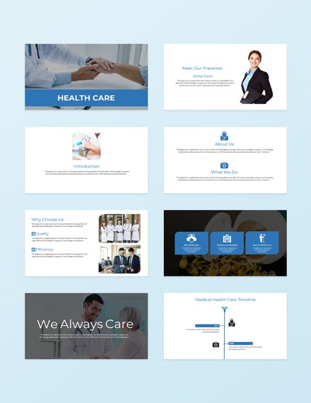 Health Care Presentation Template Sample