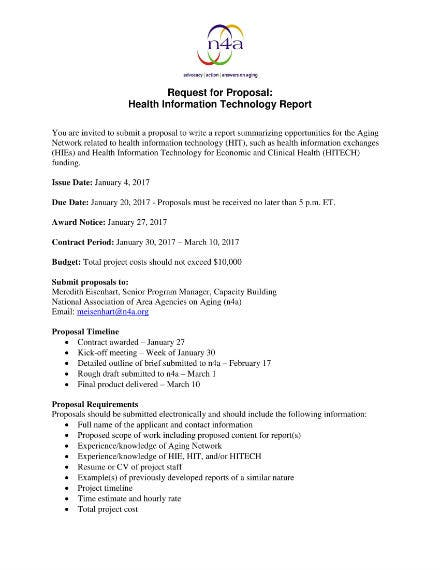 health information technology proposal request sample