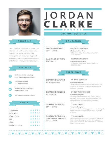 hipster resume template1