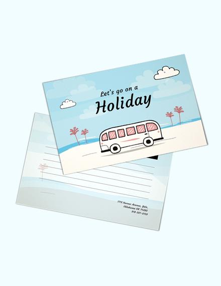 holiday postcard template psd