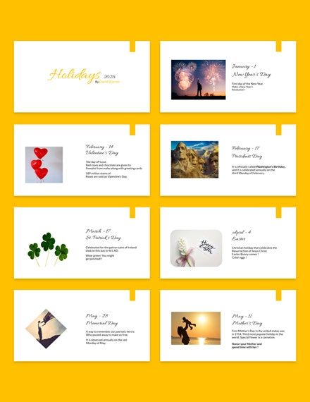 Holiday Presentation Template Example