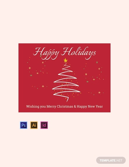 holiday sign template in indesign