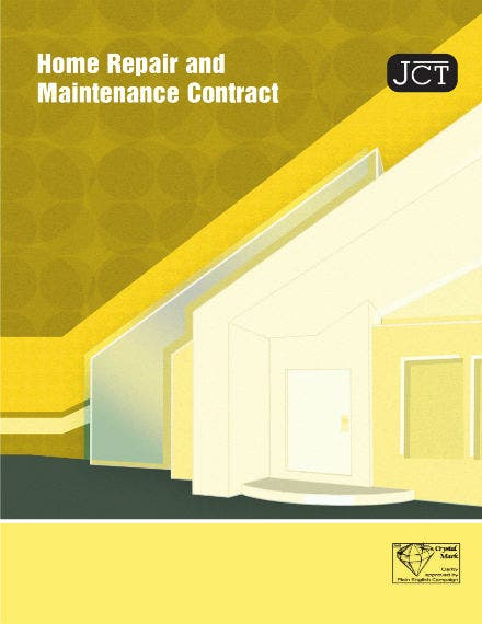 home repair and maintenance contract 1