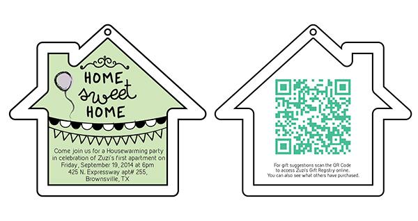 Housewarming Invitation Cut Out Template