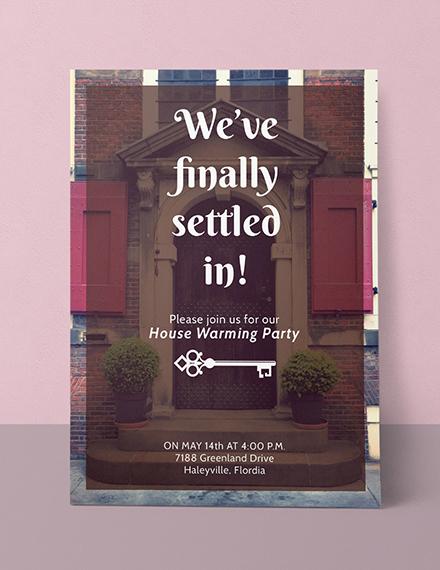 Housewarming Party Invitation Sample