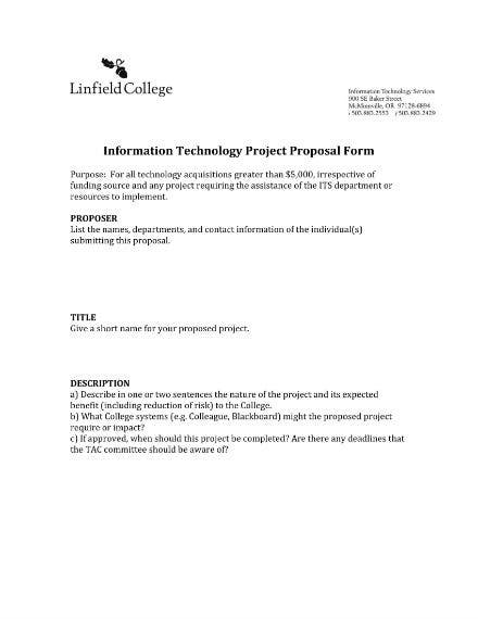 it project proposal form sample