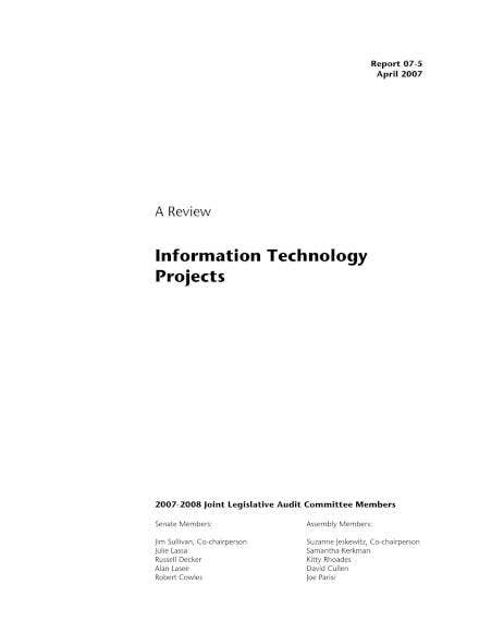 it project review sample1