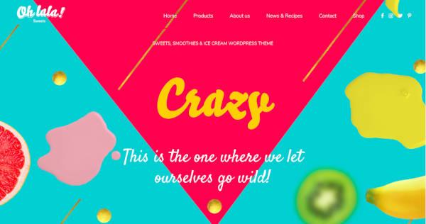 Ice Cream & Juice Bar WordPress Theme