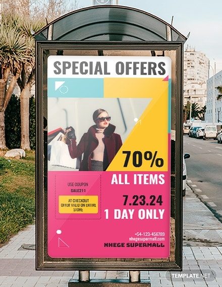 in store promotion digital signage template in psd