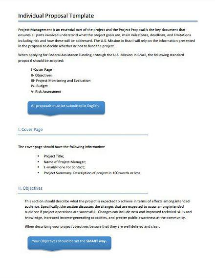 individual proposal template