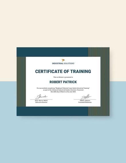 industrial training certificate