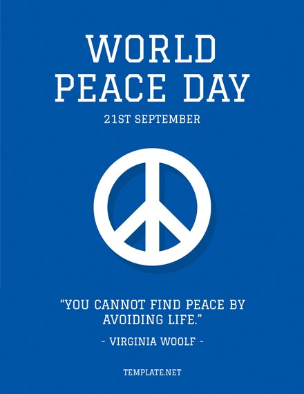 International Peace Day Greeting Card PSD Template