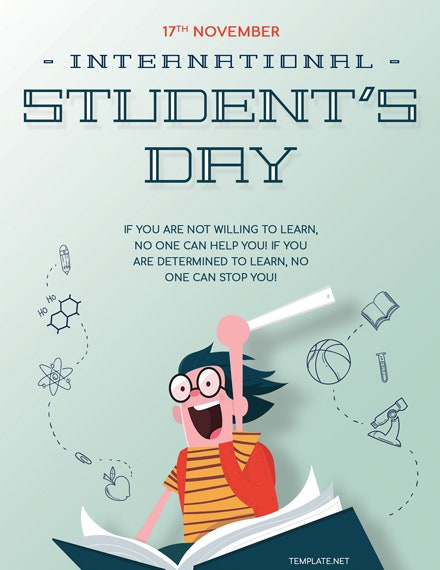 International Students Day Greeting Card PSD Template