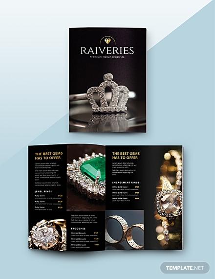 jewelry catalog psd template