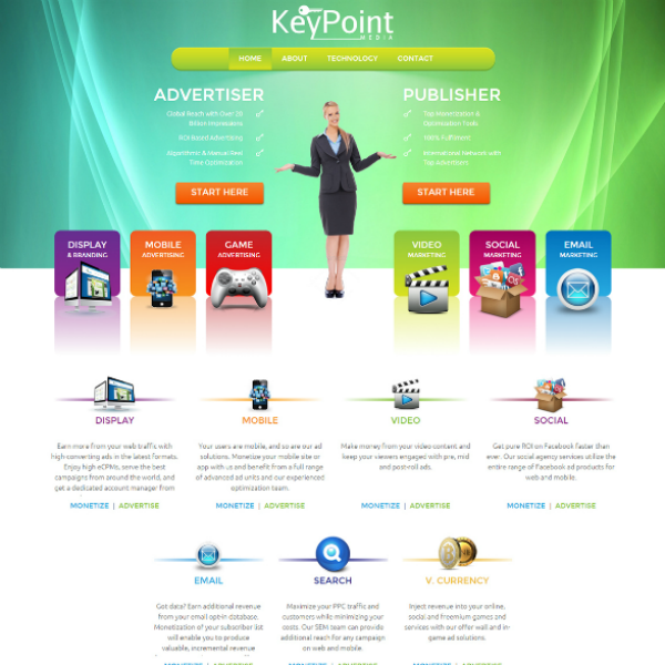 Keypoint Marketing Agency Website Layout