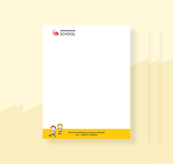 kindergarten letterhead template