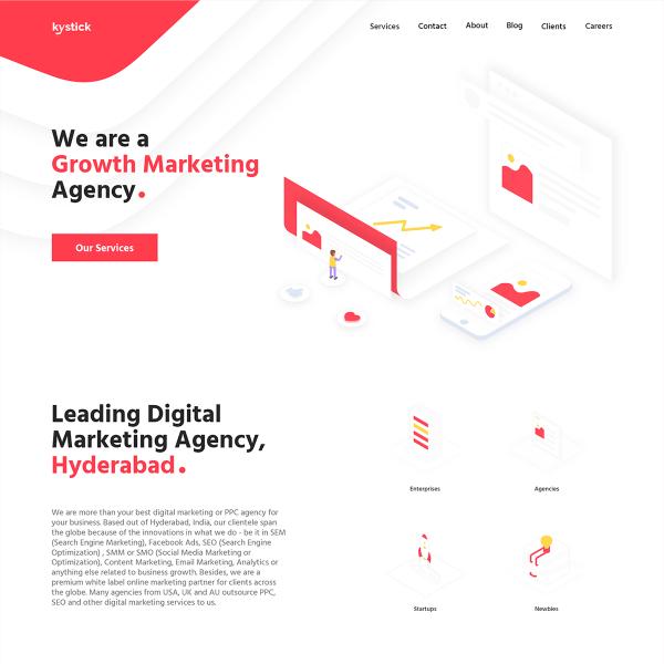Kystick Marketing Agency Website Sample