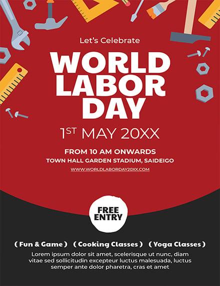 Labor Day Invitation Template