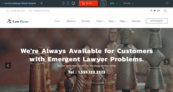 law firm multipage website template1