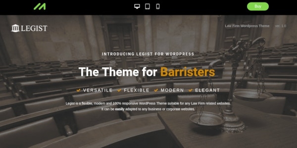 law firm wordpress theme example