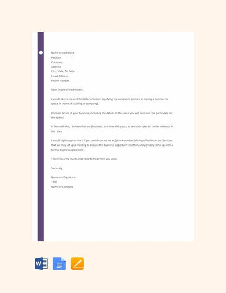 letter template of intent for business1