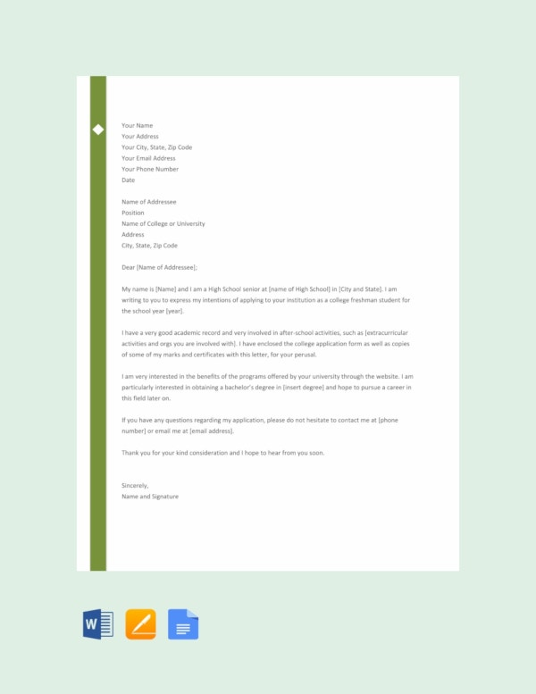 letter template of intent for college1