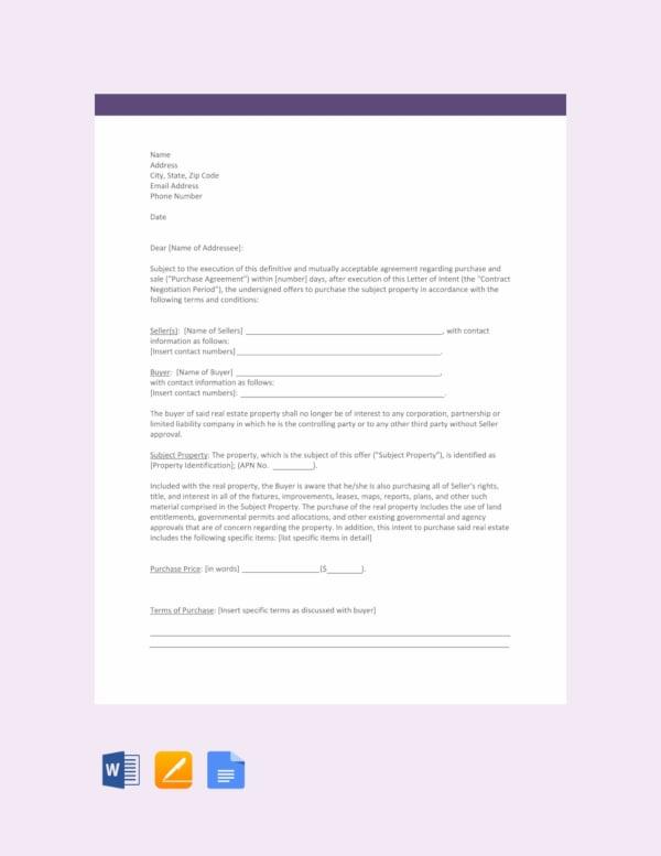 27+ Simple Letter of Intent Templates - PDF, DOC | Free & Premium