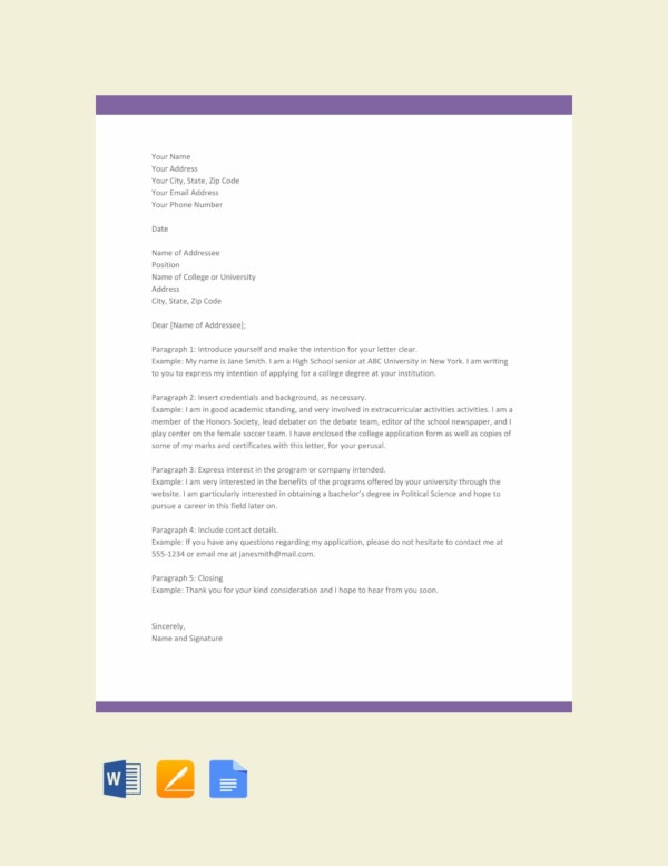 Letter Of Intent Formats | 27 Simple Letter Of Intent Templates Pdf Doc Free Premium