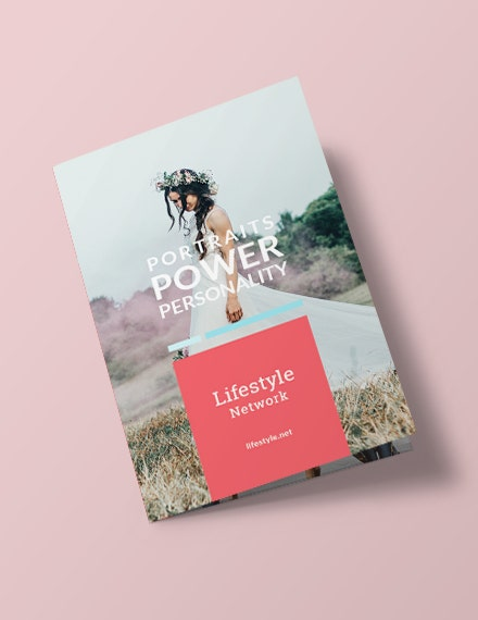 lifestyle business bifold brochure layout