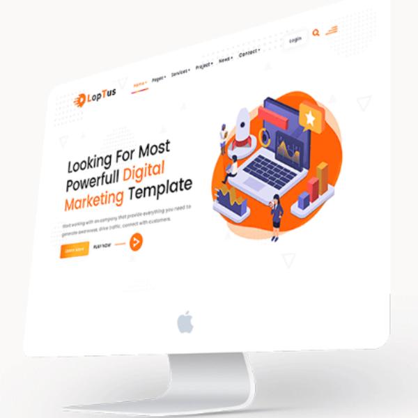 Loptus Marketing Agency Website Design