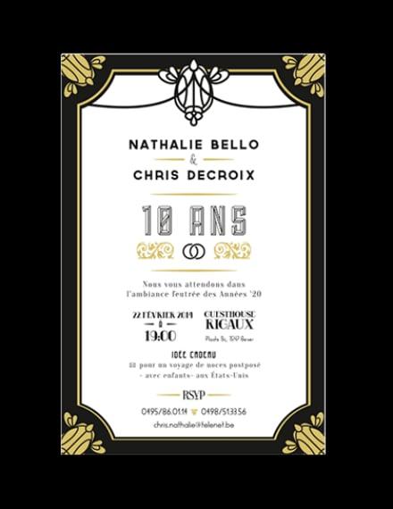 Luxurious Style Anniversary Invitation Layout