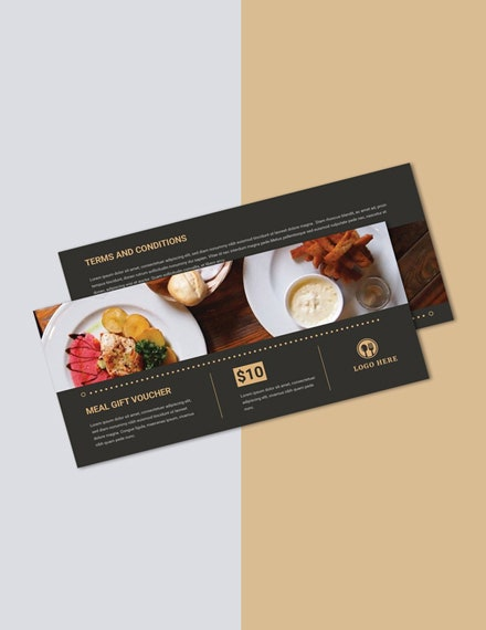 meal gift voucher word template