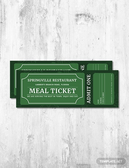 meal ticket template psd1