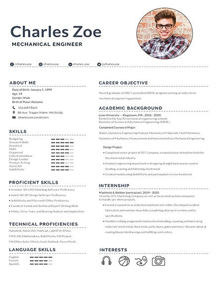 10 mechanical engineering resume templates pdf doc free