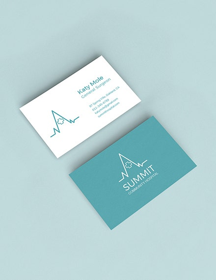 medical business card psd template