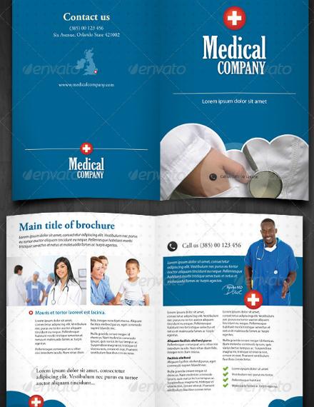 medical company bifold brochure sample