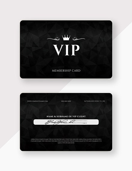member card illustrator template