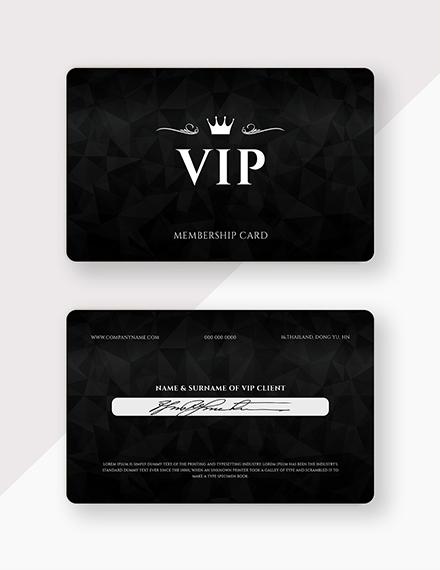 member card psd template