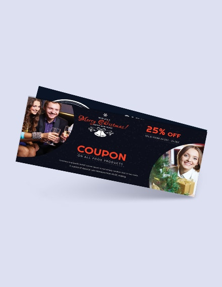 merry christmas coupon templat