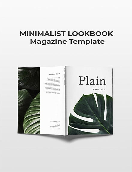 minimalist look book magazine