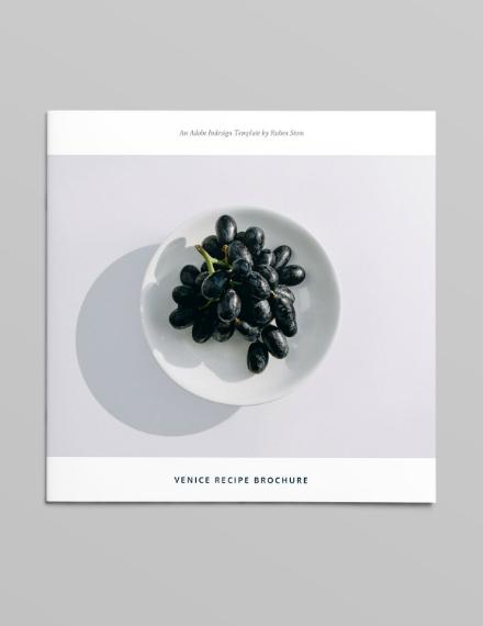 minimalist recipe square brochure design