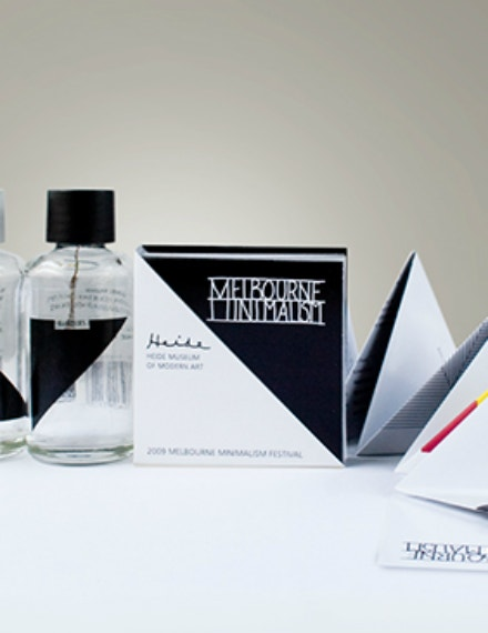 minimalist square advertising brochure layout