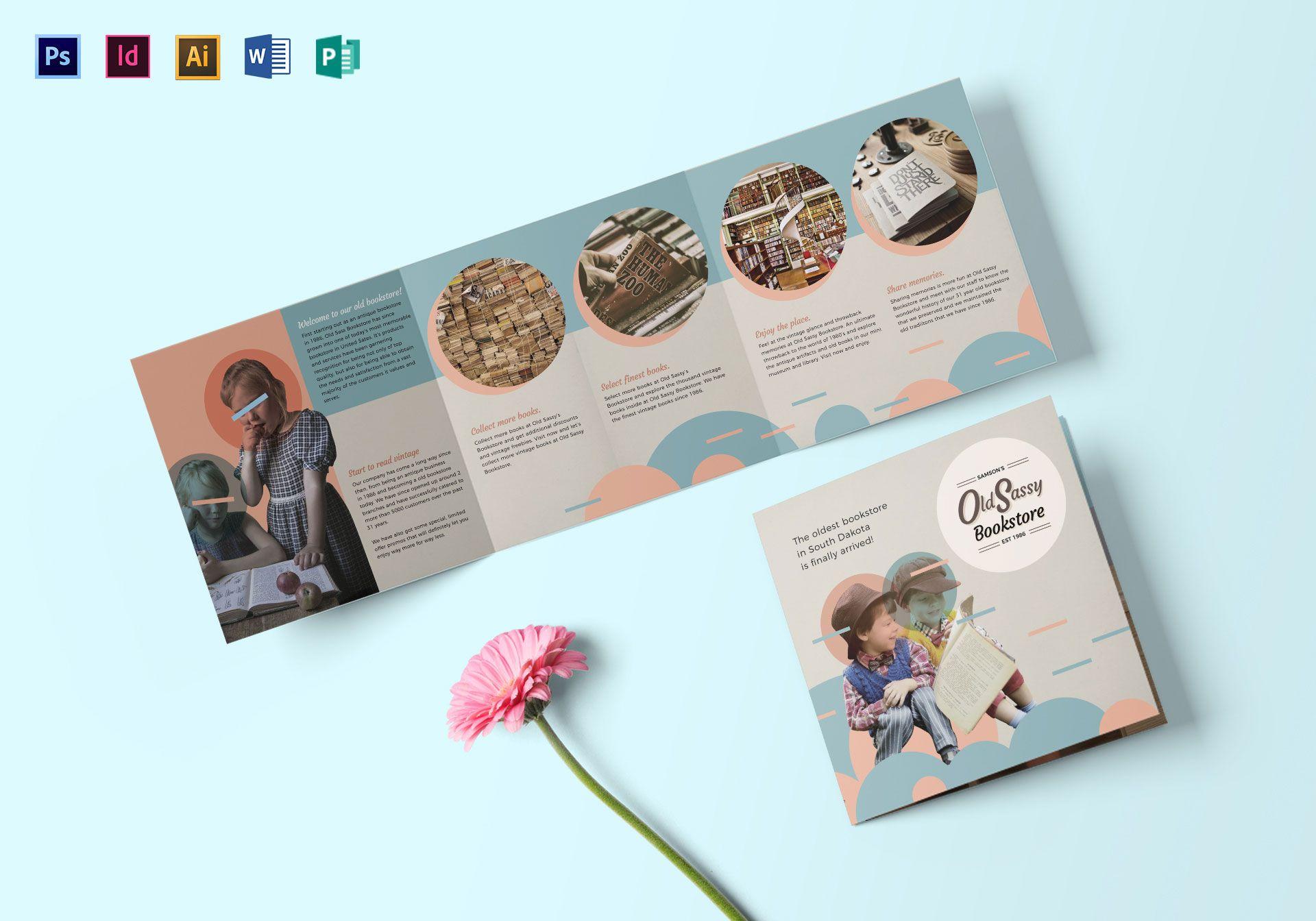 minimalist vintage square brochure design