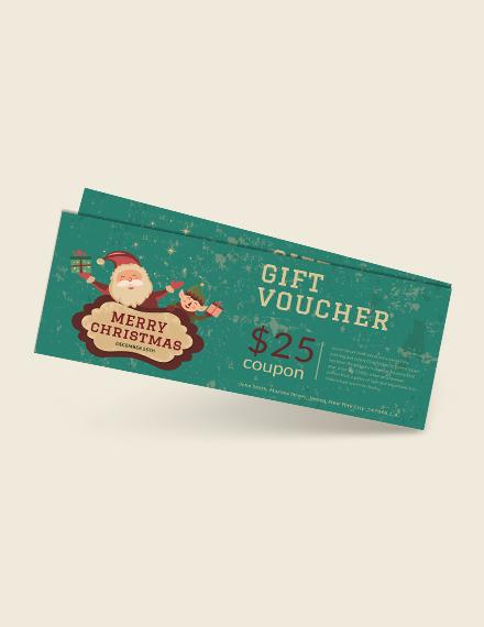 Modern Christmas Gift Voucher Template