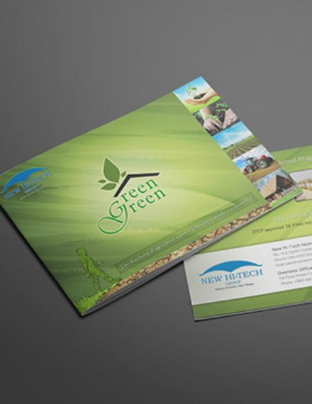 modern green nature brochure design