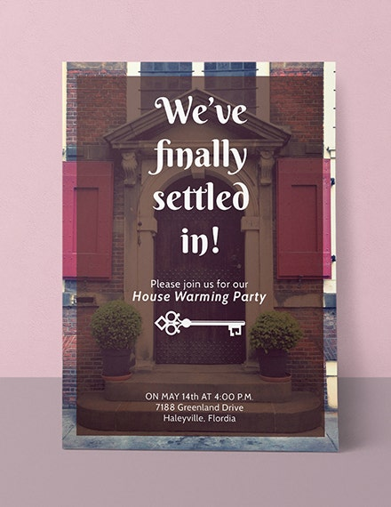 Modern Housewarming Party Invitation Layout