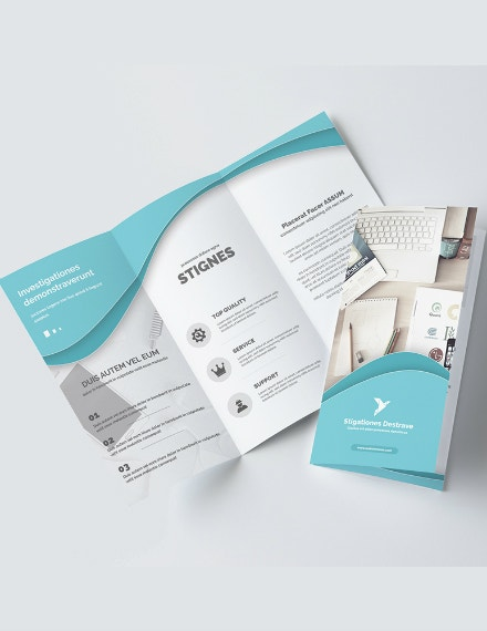 modern multipurpose trifold brochure layout