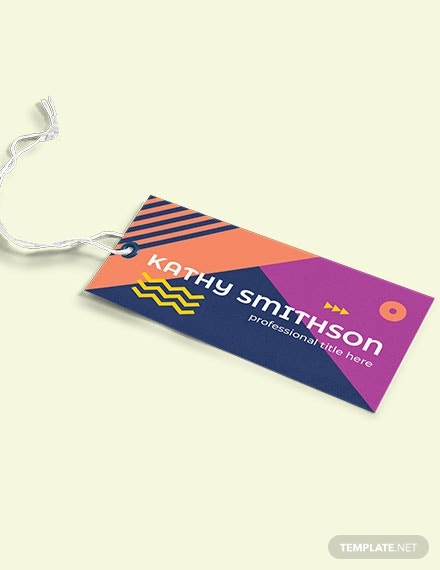 modern name tag label template in psd